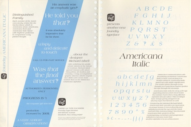Americana Italic_front and back