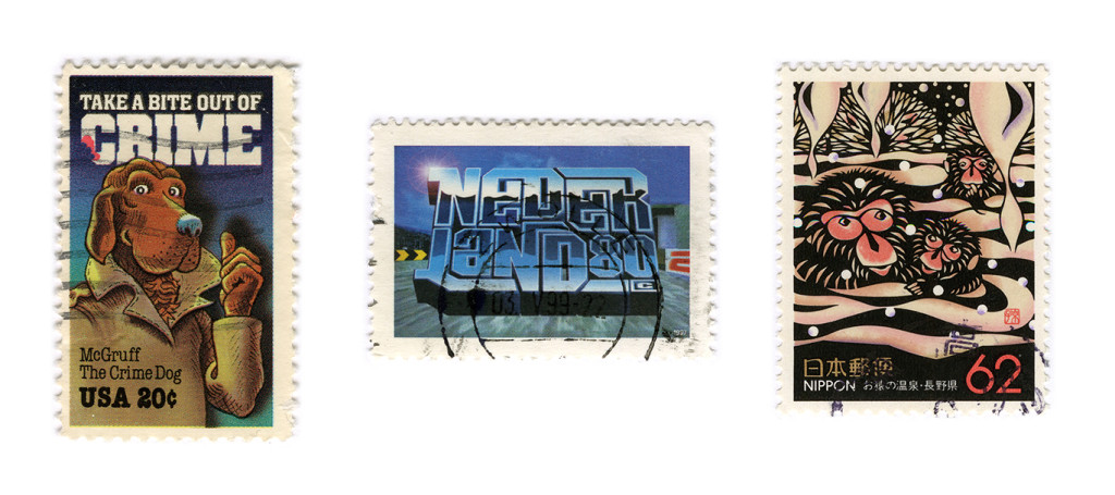 Some weird nonsense stamps, which I find are still awesome!