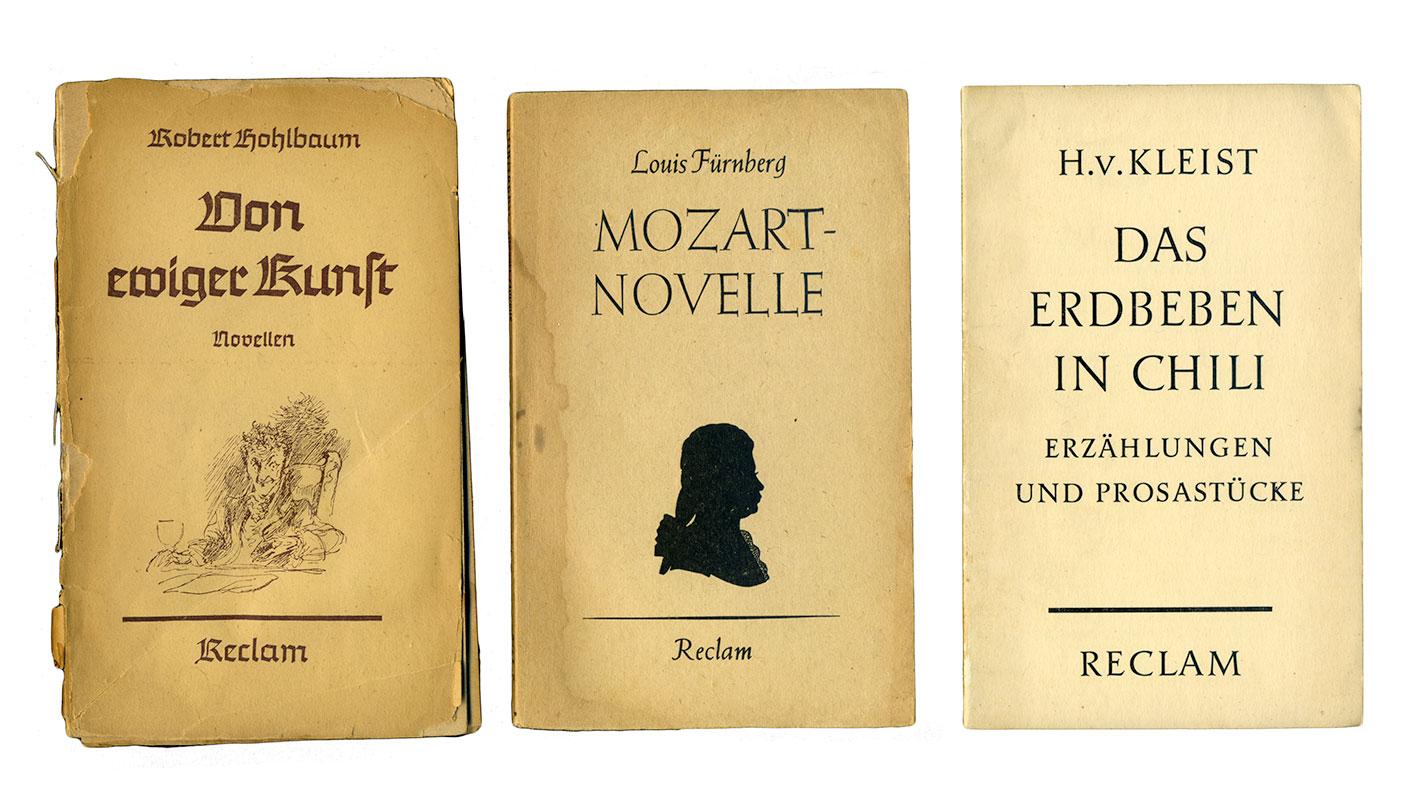 Examples from Reclam's Universal-Bibliothek