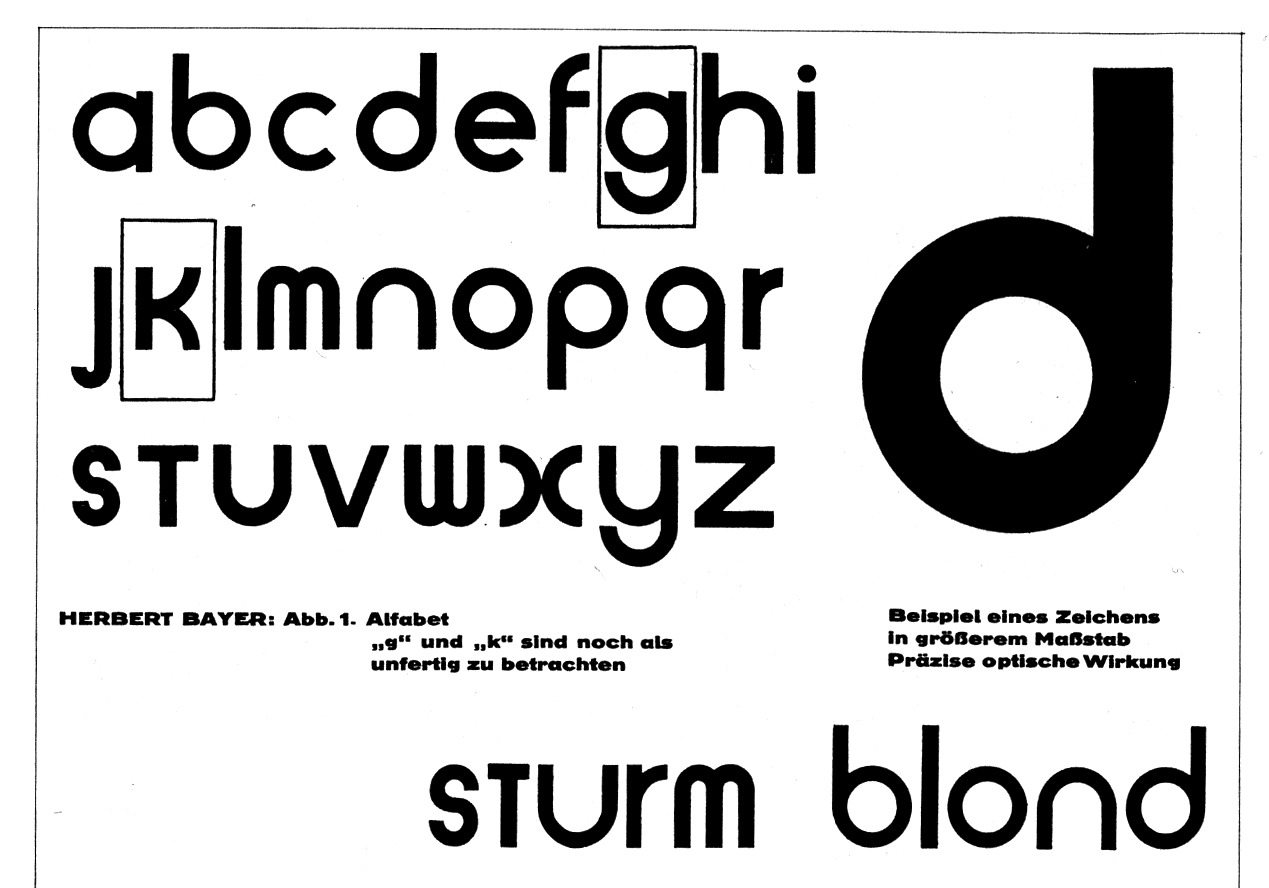 Bayer's proposal for a universal alphabet