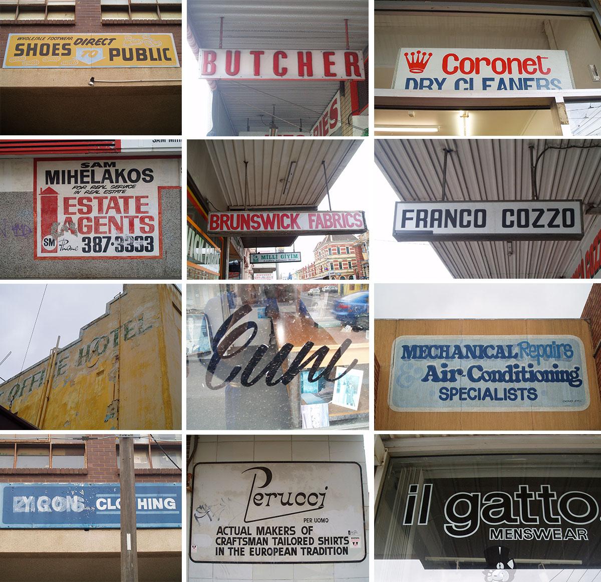 Brunswick signage, 2008–2009.