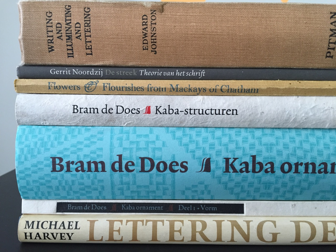 Books from The Hague studio.