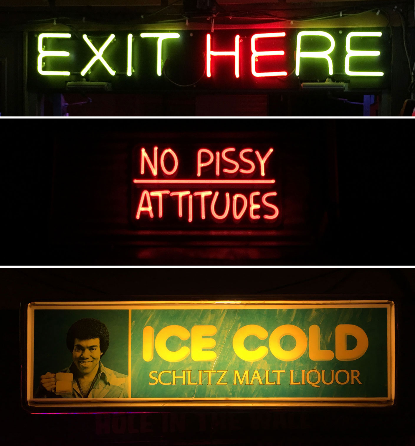 Various Glowing Signs