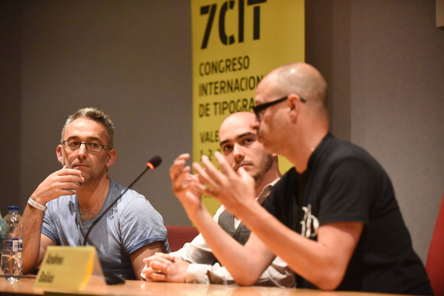 Juan Luis Blanco, Sergio Trujillo and Andreu Balius during the round of questions. Photo: Provi Morillas