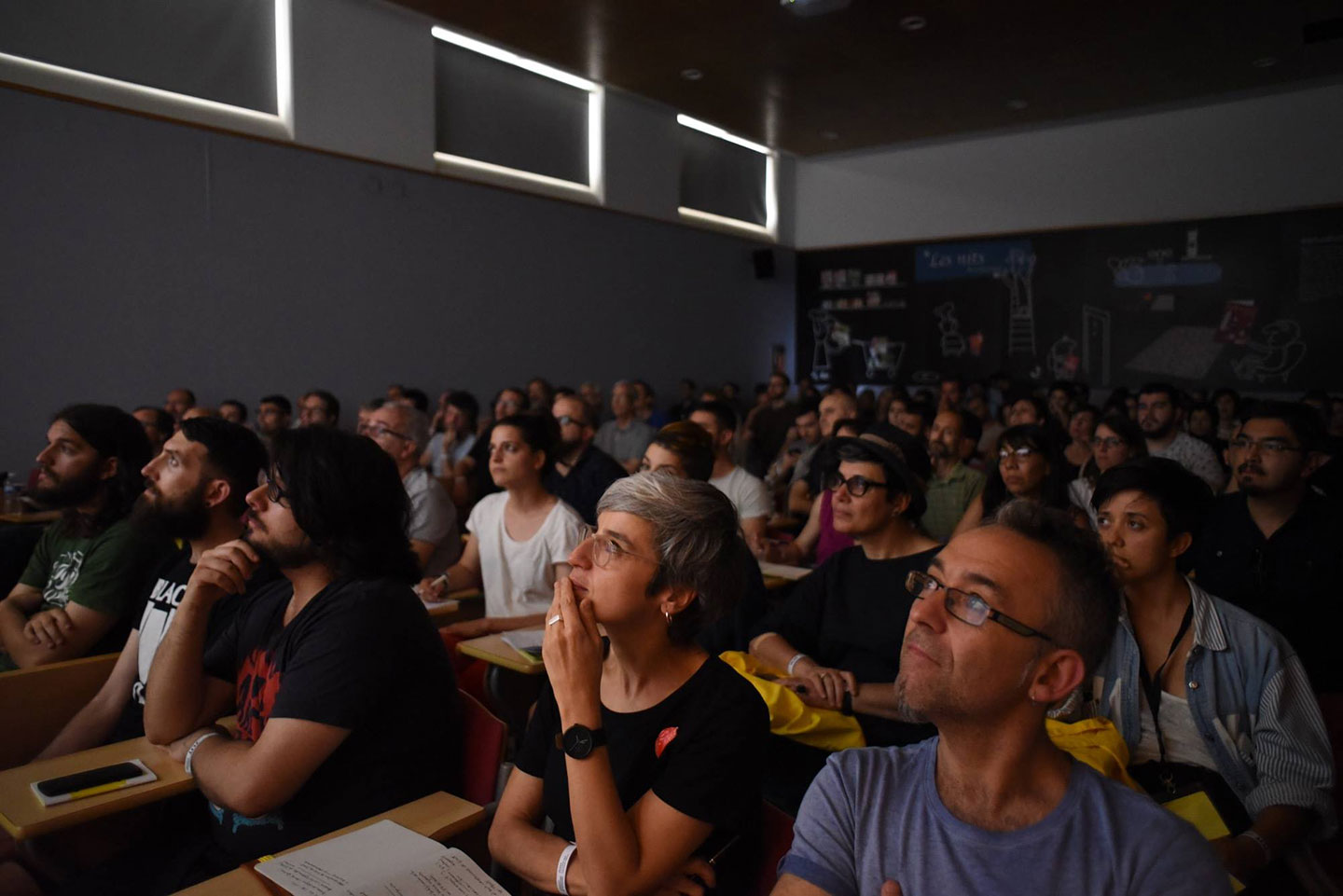 The audience during the presentation of Herminio Fernández. Photo: Provi Morillas