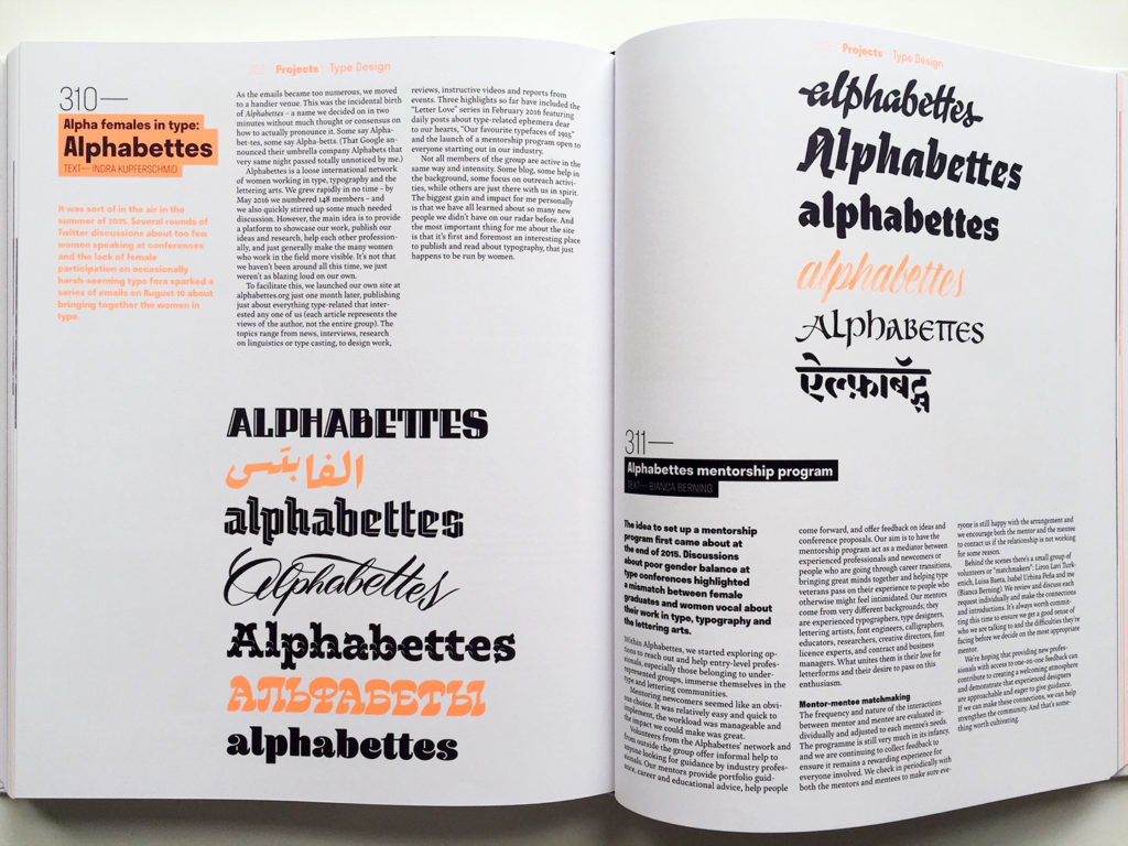 Spread from 365Typo. Photo by Marina Chaccur