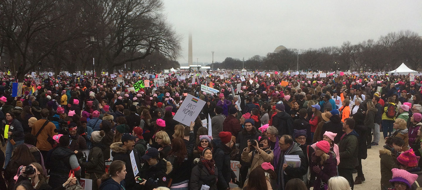 """The Women's March on Washington. Photo courtesy of Nina Stössinger."