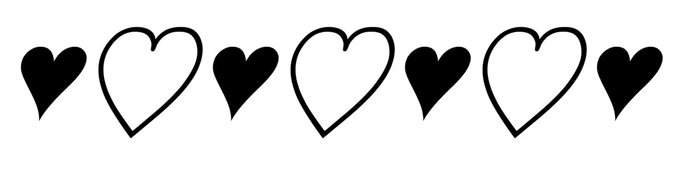 Bickham Script hearts