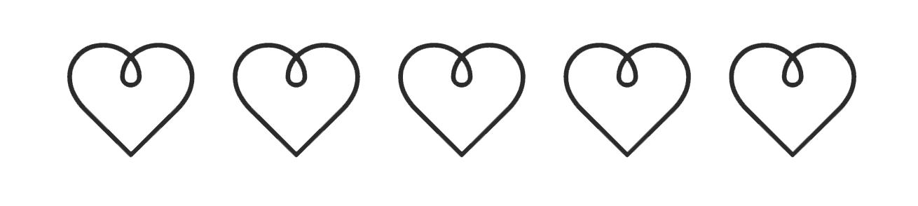 Guapa hearts