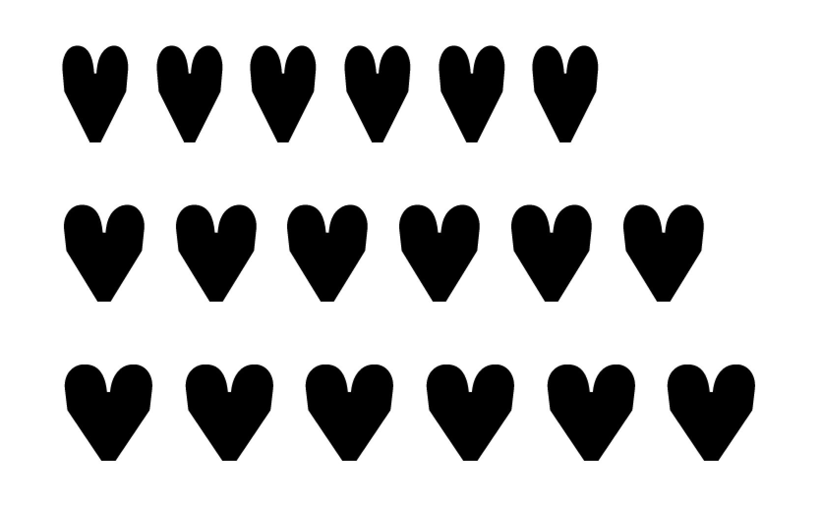 Input hearts