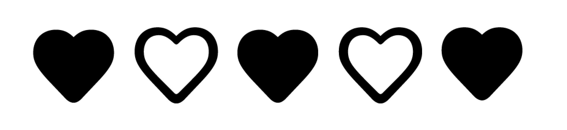 portada icons hearts