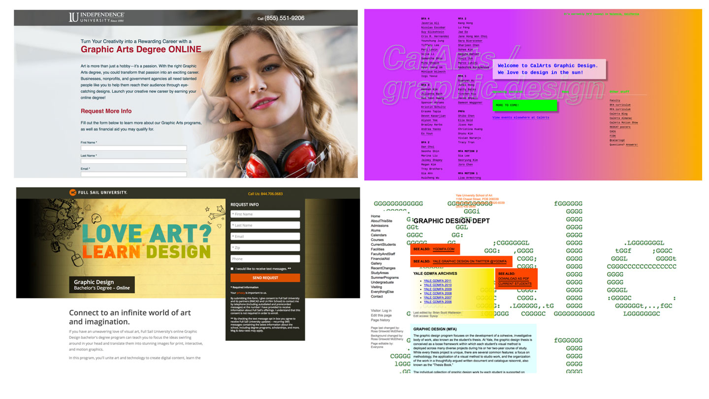 design program websites