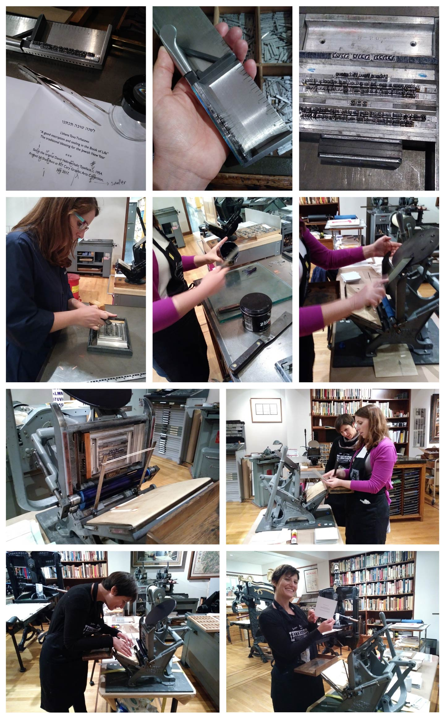 Planning, setting, proofing, printing with Amelia Fontanel.