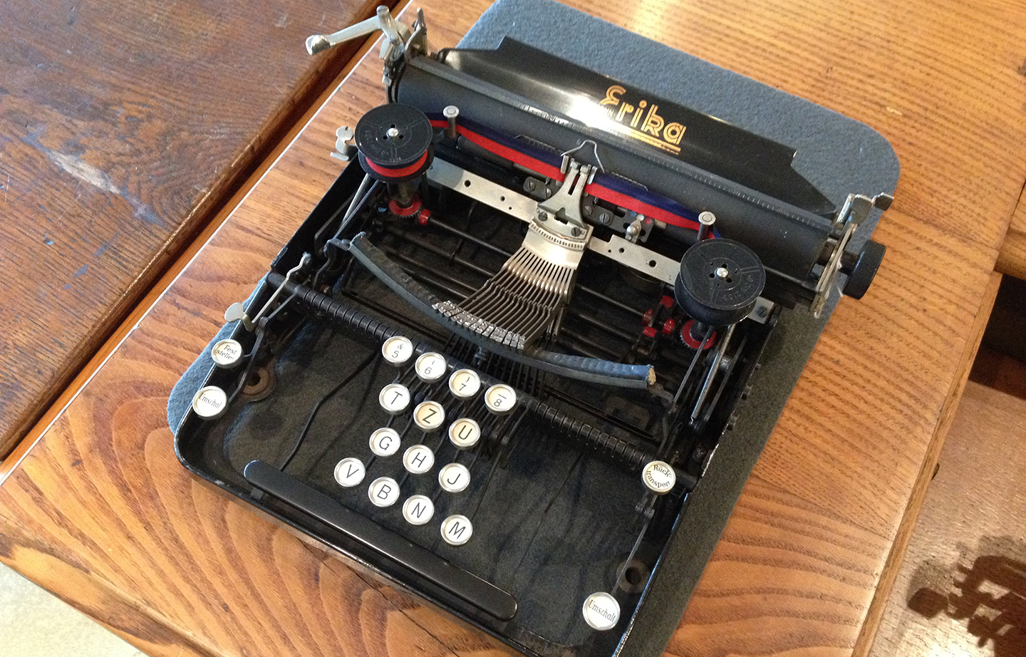 Picture of a Erika testing typewriter
