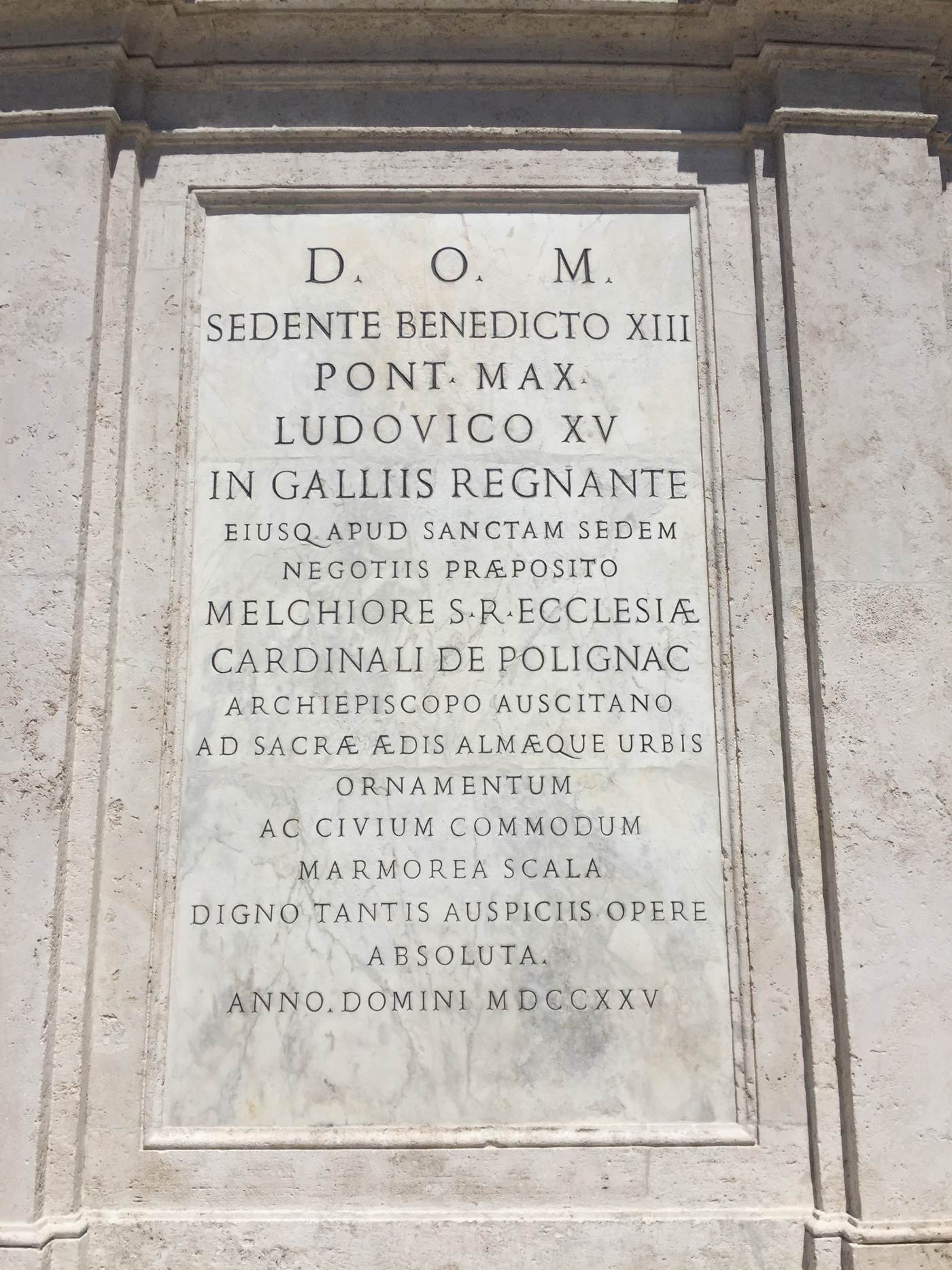 Roman capitals are everywhere especially captioning monuments and buildings like this one at the Piazza Navona I m specially infatuated by the †s