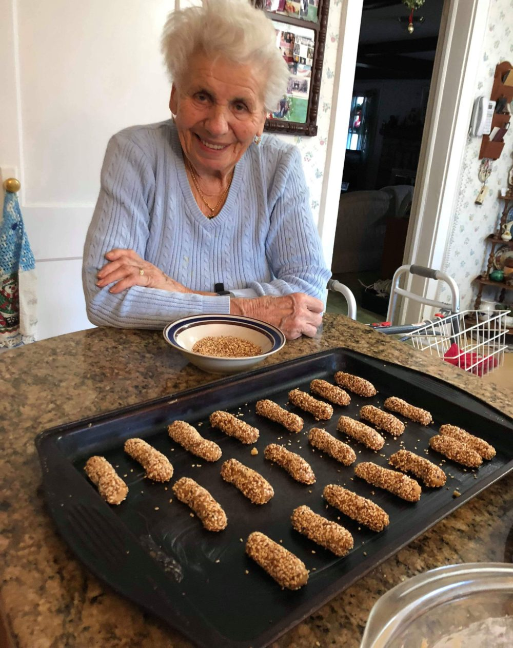 Michelina makes sesame cookies