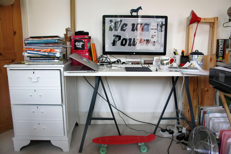 Elena's desk