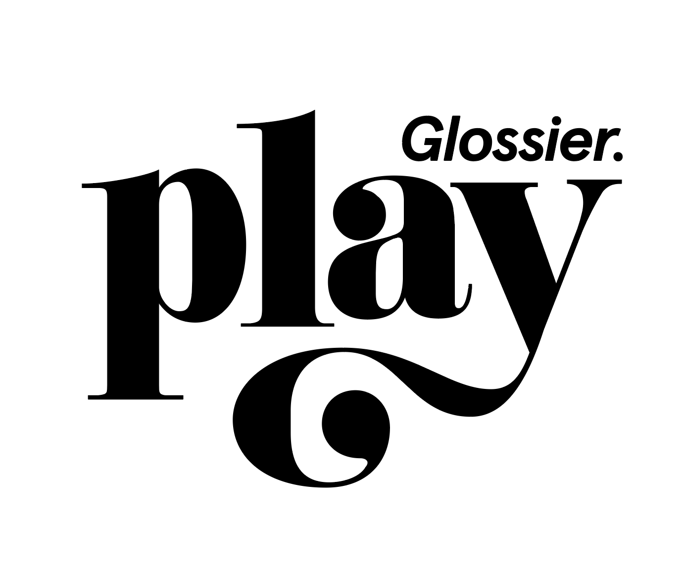 Playing With The Glossier Play Logotype Alphabettes