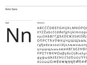 Noto Sans specimen sample