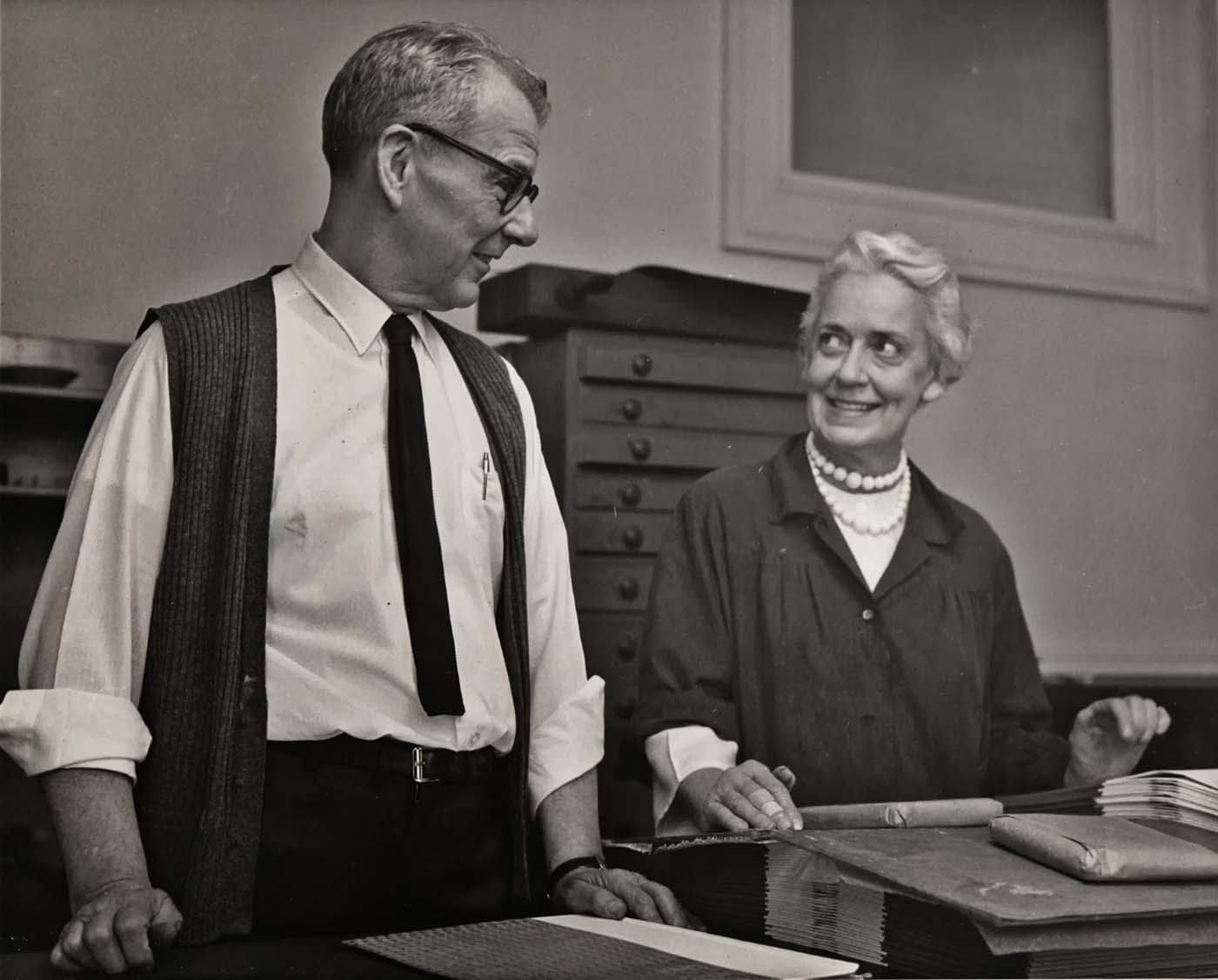 Jane and Robert Grabhorn [n.d.] (Book Arts & Special Collections, San Francisco Public Library)