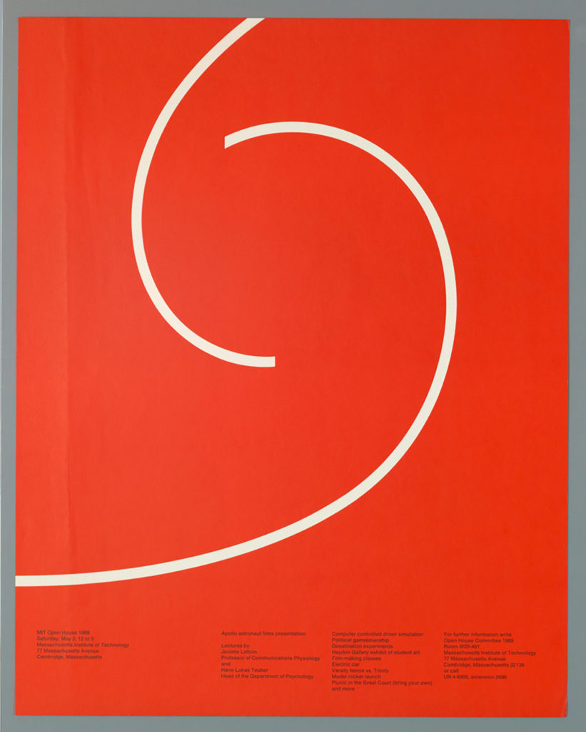 Poster of 1969 MIT Open House by Jacqueline Casey
