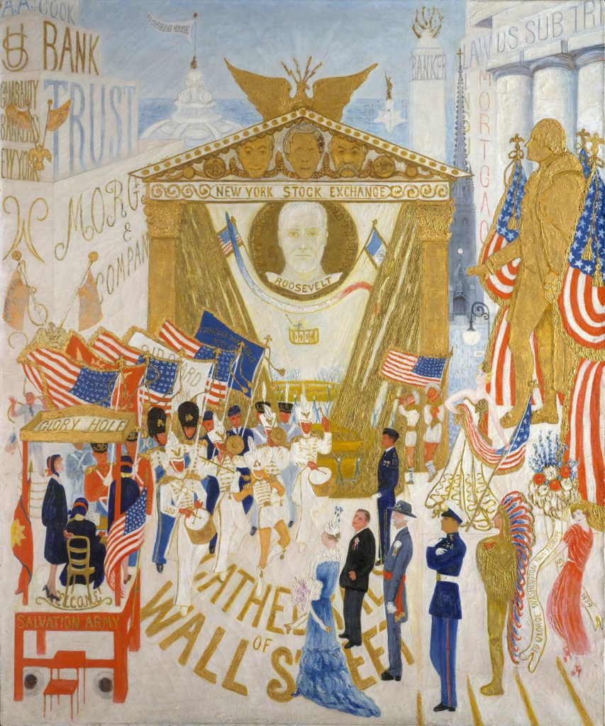The Cathedral of Wall Street's Painting by Florine Stettheimer
