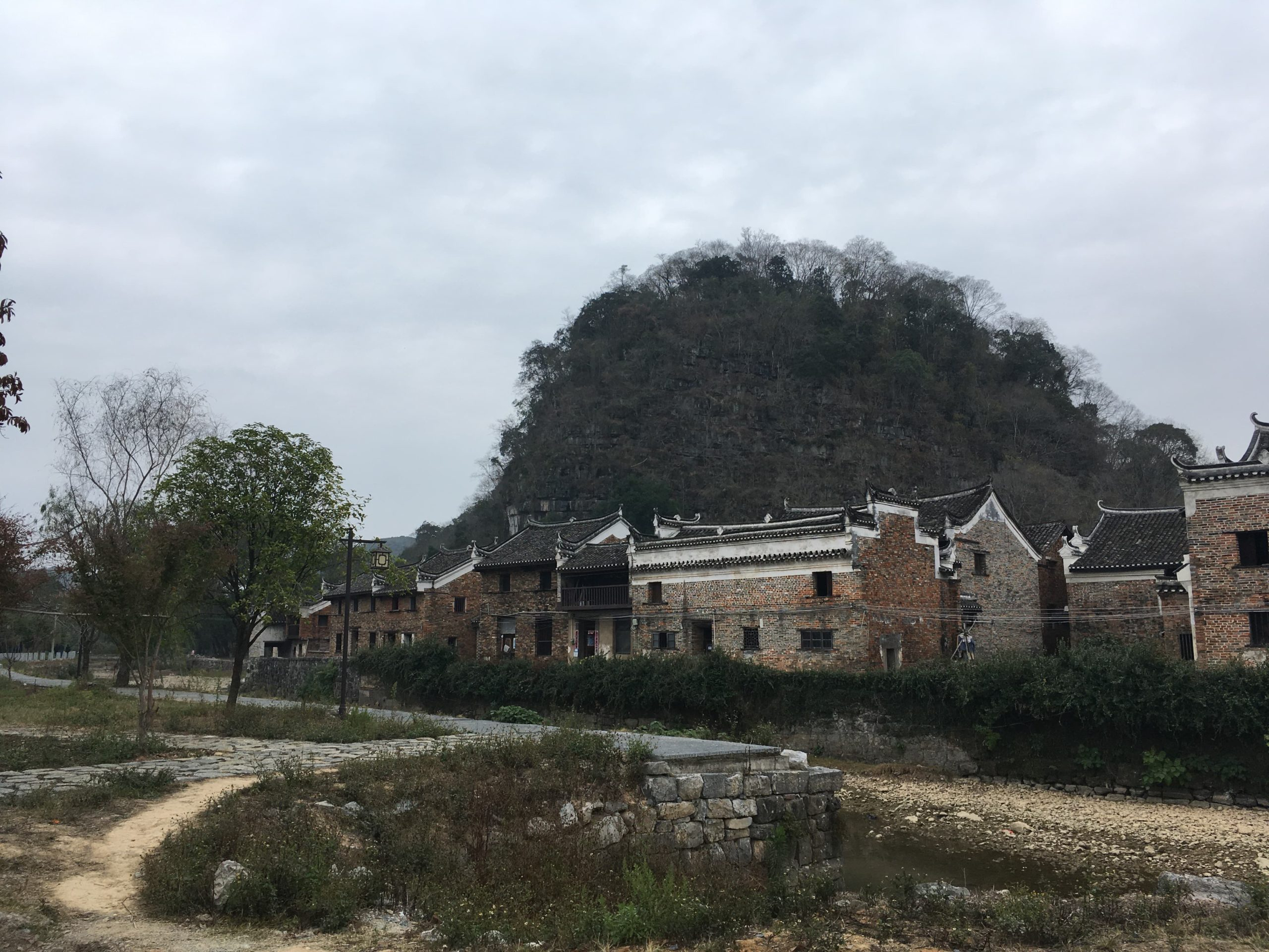Photograph of Shang Gang Tang village in Jiangyong county