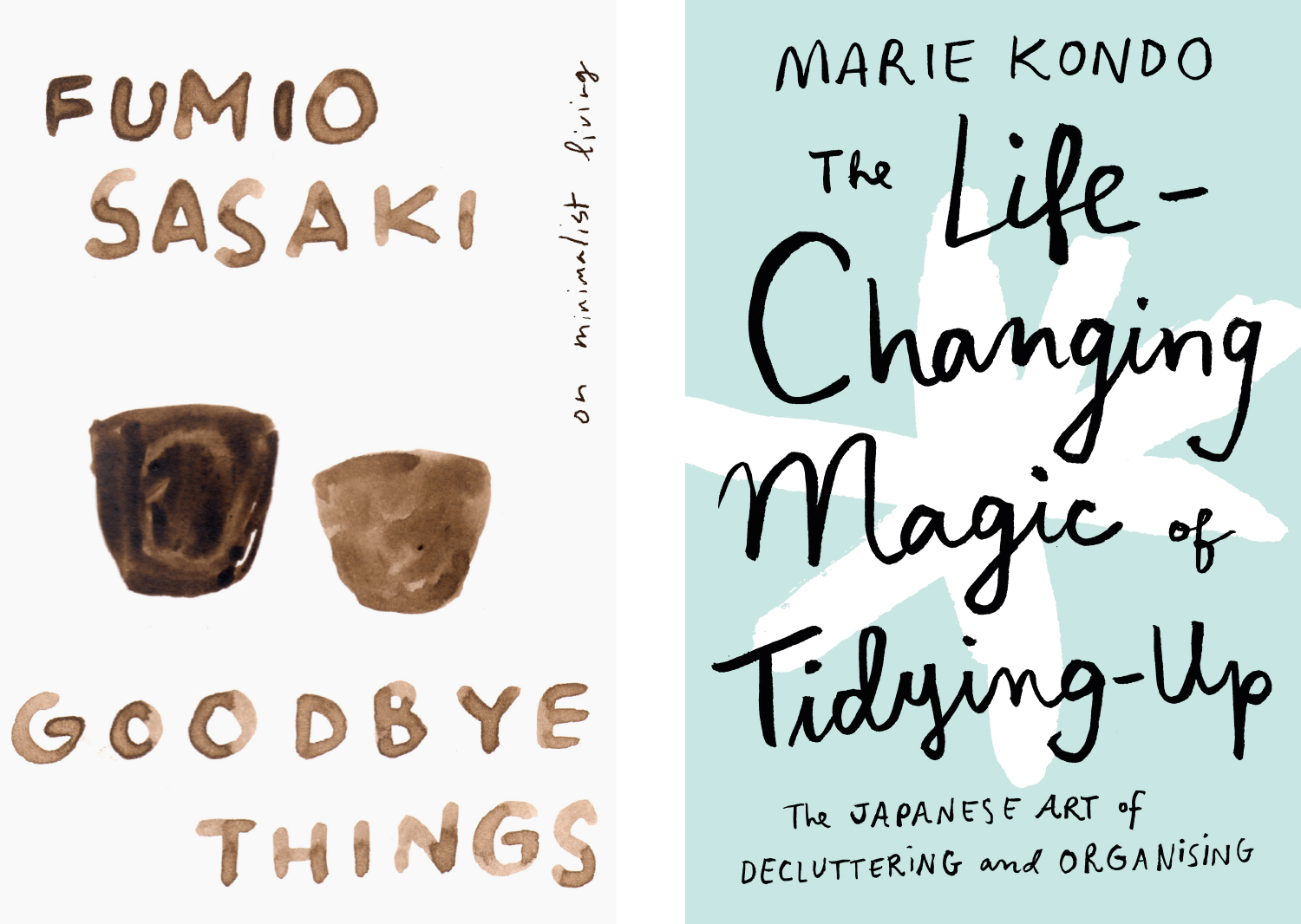 Goodbye Things and Marie Kondo personal covers