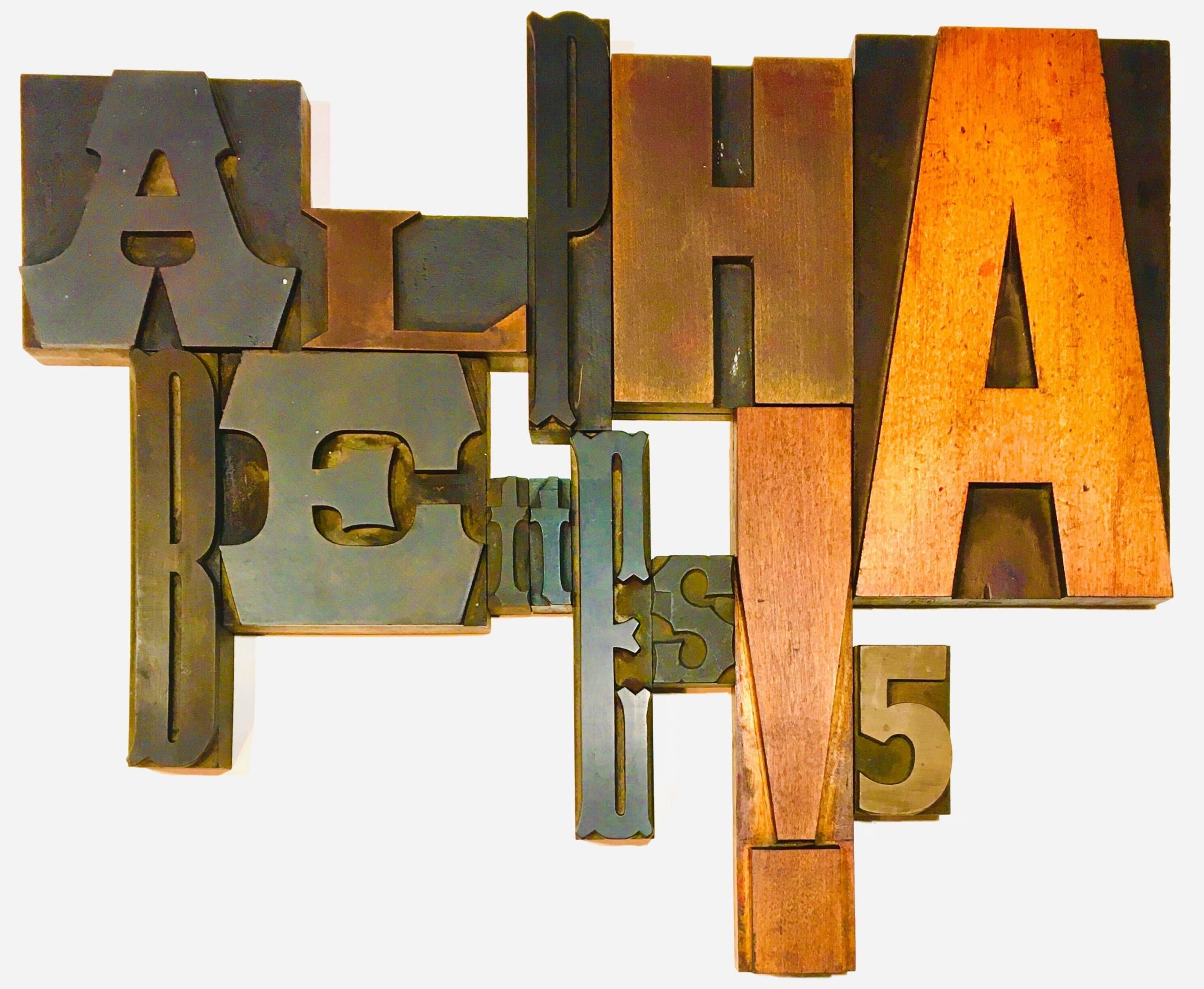 """Alphabettes"" made out of Wood type"