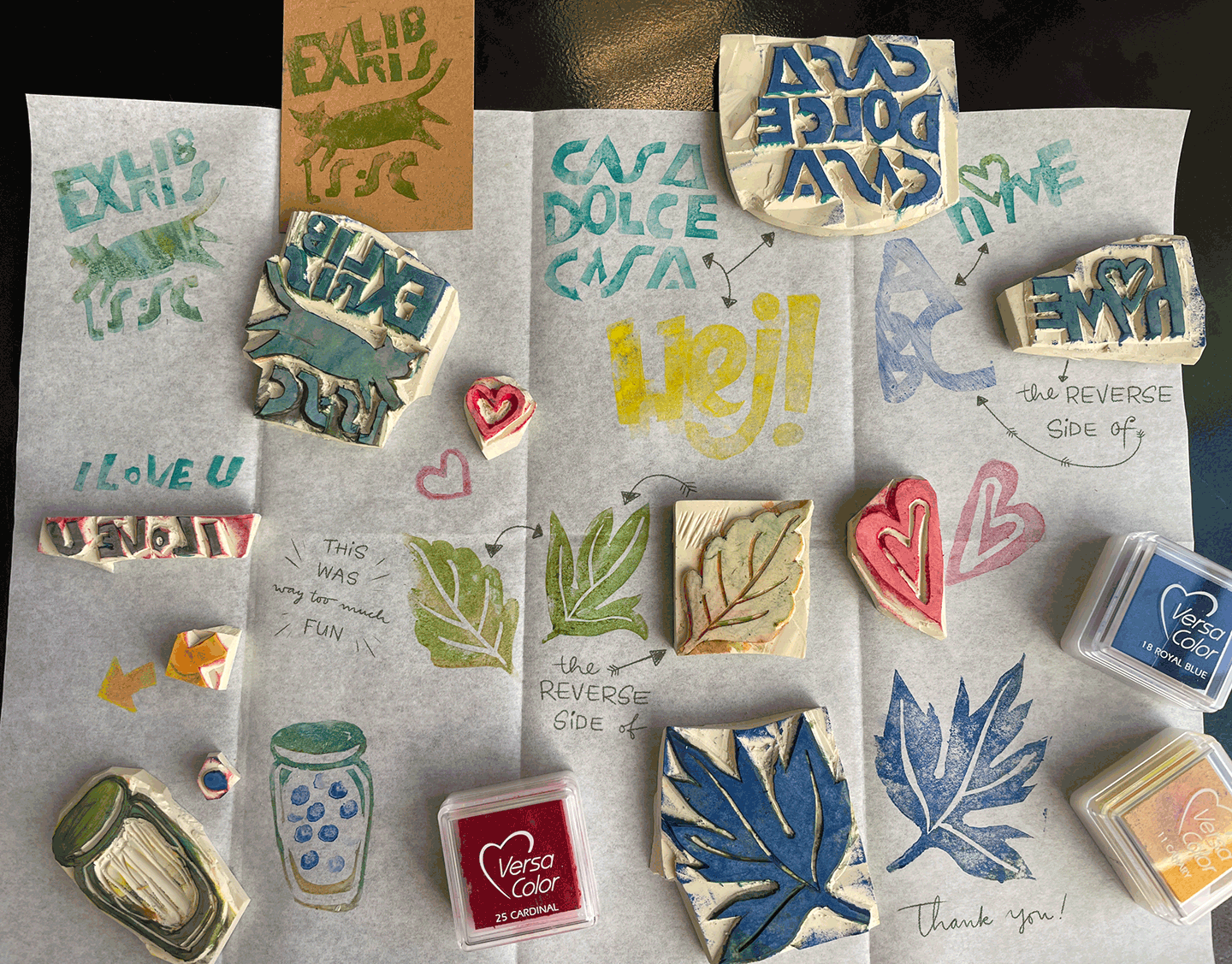 the rest I made out of the 4x6 in piece of stamp thiny