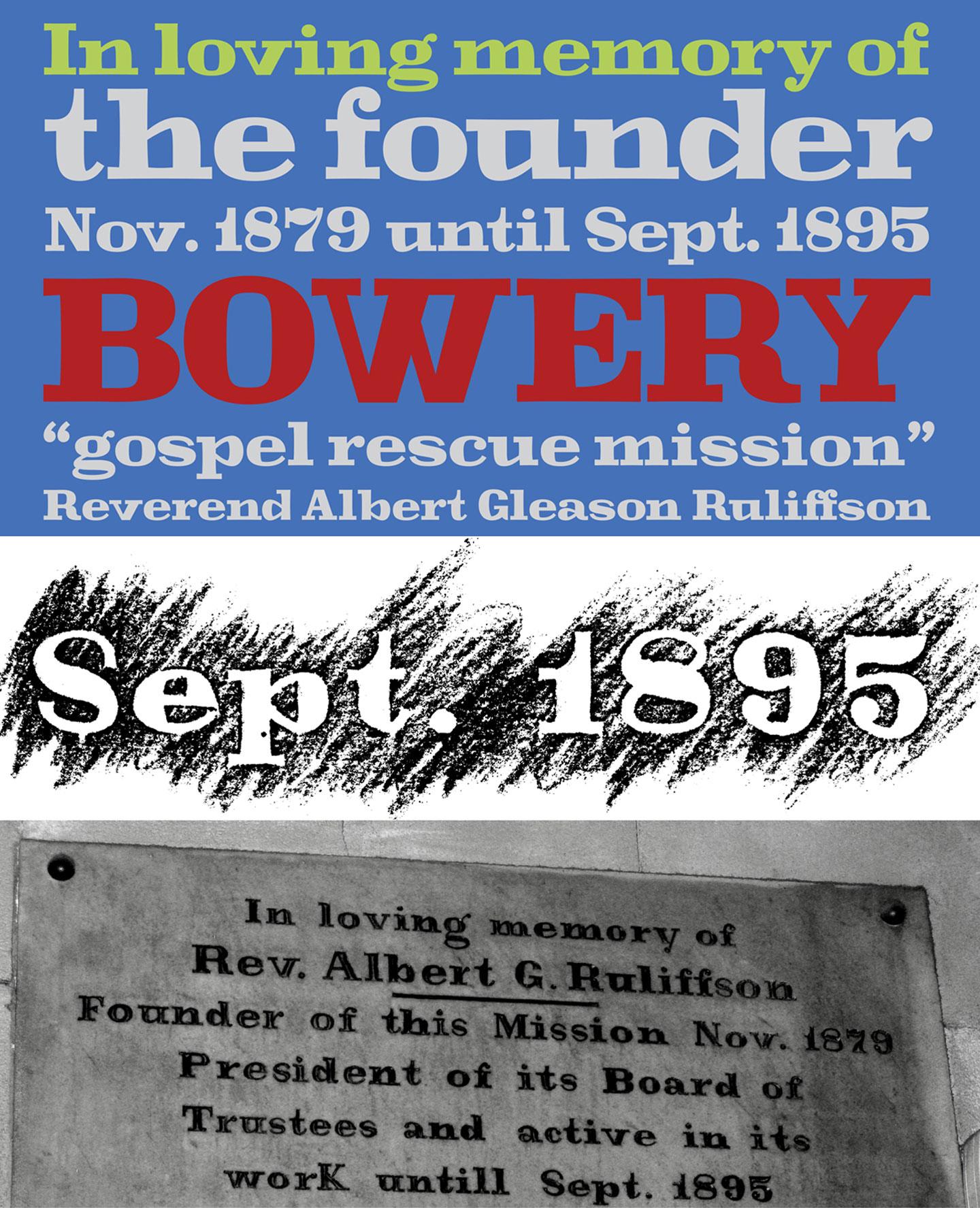 Bowery typeface design