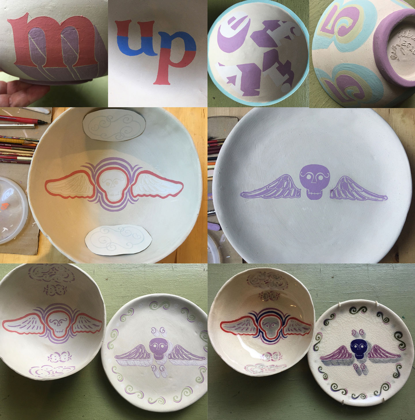 Hand built plates and bowls
