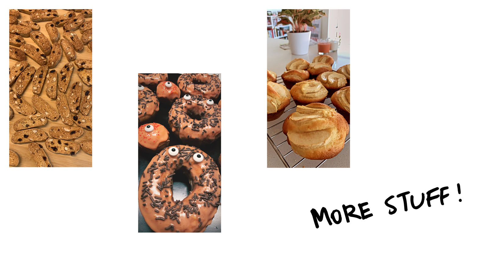 Fekkas, donuts and apple muffins