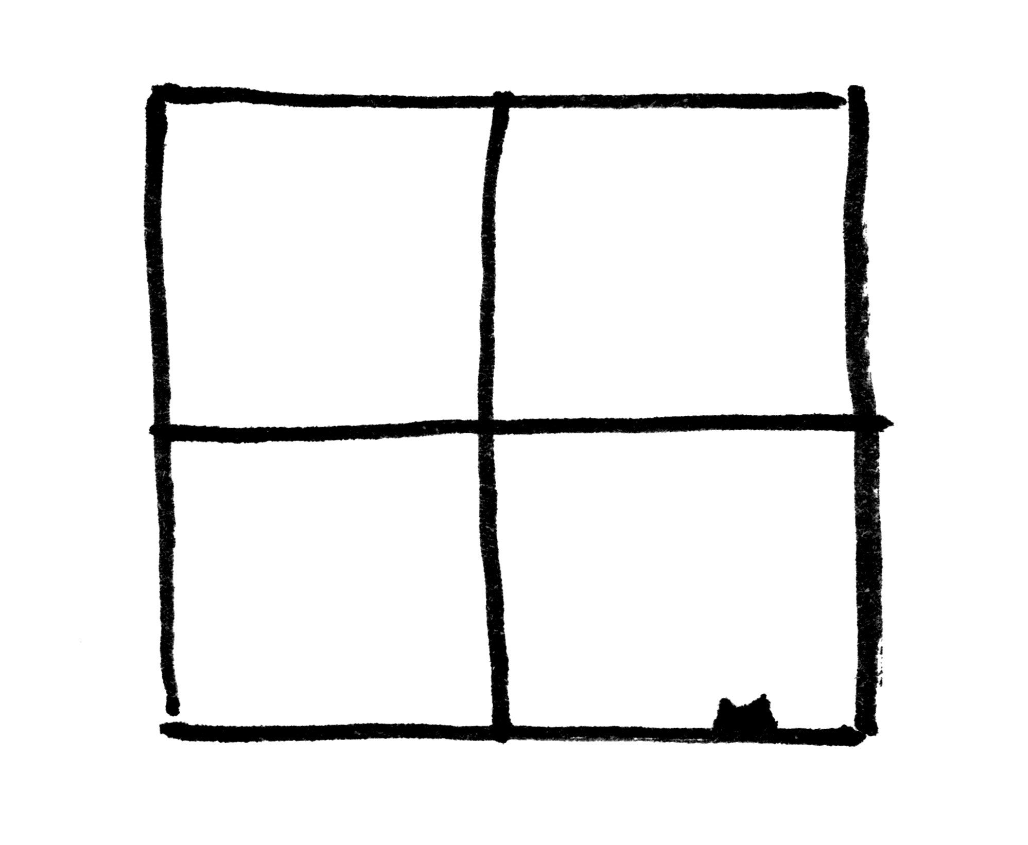Illustration: a cat's silhouette in a window